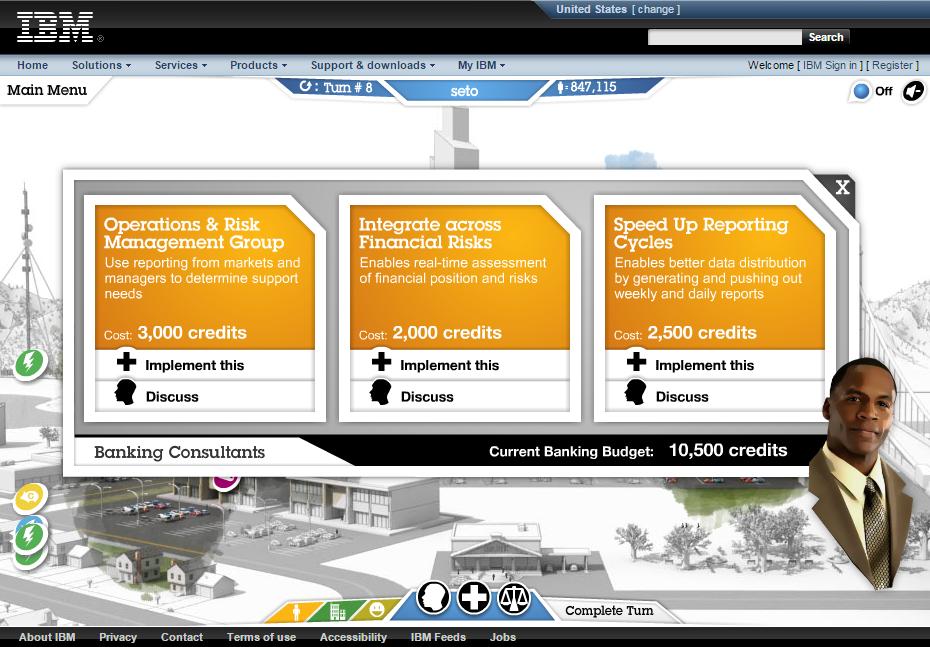IBMのコンサルティングシミュレーションゲーム・CITY ONE