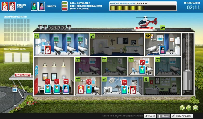 医療現場のオペレーションの難しさを表現するGEのゲーム